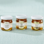 Personalized Honey Jar Favors (set of 12)  - Gold Foil Labels