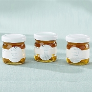Personalized Honey Jar (set of 12)  - Silver Foil Labels