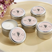 Cameo Personalized Travel Tin Candle