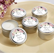 English Garden Floral Theme Travel Tin Candle
