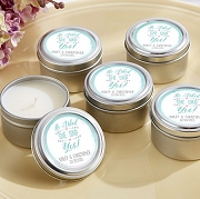 He Asked, She Said Yes Personalized Travel Tin Candle