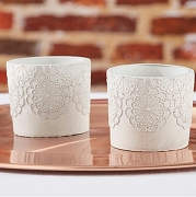 Concrete Lace Votive Holder (set of 4)
