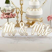 Gold Mr. & Mrs. Sweetheart Table Sign