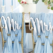 Silver Mirror Mr. & Mrs. Chair Signs