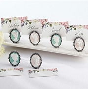 Vintage Cameo Place Card Holder (set of 6)