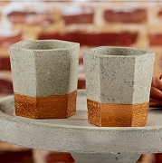 Copper and Concrete Tealight Holder (set of 4)