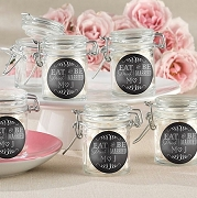 Eat, Drink Be Married Hinged Glass Jar Wedding Favor (set of 12)
