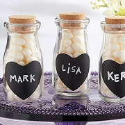 Milk Bottle Jar (set of 12) - Chalk Heart Stickers