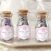 Tutu Cute Ballet Slipper Milk Bottle Jar Baby Shower Favors (set of 12)