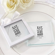 Personalized Coasters - Eat Drink Be Married (set of 12)