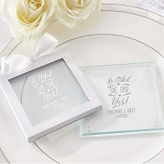 Personalized Coasters - He Asked, She Said Yes (set of 12)