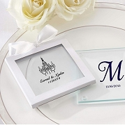 Personalized Glass Coaster Wedding Favors (Set of 12)