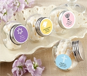 Mini Glass Jar Religious Party Favors (Set of 12)