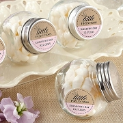 Mini Glass Jar (set of 12) - Little Princess Baby Shower Stickers