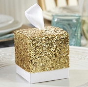 Gold Glitter Favor Box (set of 24)