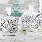 Silver Glitter Favor Box (set of 24)