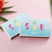 Pineapple Design Monogrammed Tropical Wedding Matches (Set of 50)