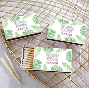 Palms Design Beach Themed Wedding Matches (Set of 50)