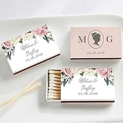 Wedding Matchboxes (Set of 50) - English Garden Design Stickers