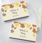 Personalized Wedding Matchboxes - Fall Leaves (Set of 50)