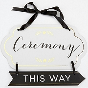 Classic Gold Foil Directional Ceremony Sign