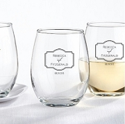 Stemless Wine Glass Favors (9 oz) - Classic Wedding