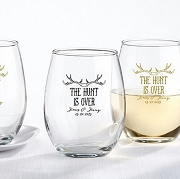 The Hunt Is Overs Stemless Wine Glass (9 oz)