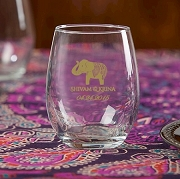 Lucky Elephant Personalized Stemless Wine Glass (9 oz)