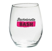 Bachelorette Bash Wine Glasses (Set of 4)