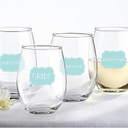 Bride & Bridesmaids Wine Glass (Set of 4)