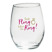 Last Fling Before the Ring Stemless Glasses (set of 4)