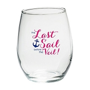 Last Sail Before The Veil Stemless Glasses (set of 4)