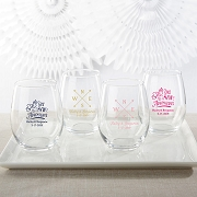 Travel & Adventure Personalized Stemless Wine Glasses (9 oz or 15 oz)
