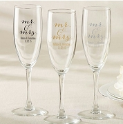 Personalized Champagne Flute - Mr. & Mrs