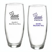 Little Prince Personalized Stemless Champagne Glasses (9 oz)