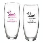 Little Princess Personalized Stemless Champagne Glasses (9 oz)