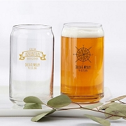 Personalized 16 OZ. Can Glass Travel Adventure