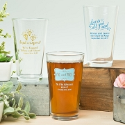 Personalized 16 oz Pint Glass Wedding Favors