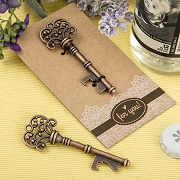 Copper Skeleton Key Bottle Opener with Kraft Paper Backer Card