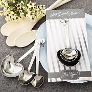 Heart Shaped Measuring Spoon Favors (3 Spoons)