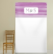 Personalized Orchid Photo Backdrop - Ombre