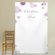 Personalized Orchid Photo Backdrop - Purple Dots