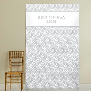 Personalized Silver Scallops Photo Backdrop