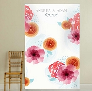 Personalized Photo Backdrop - Botanical Floral