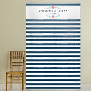 Personalized Photo Backdrop - Botanical Stripe