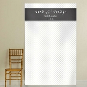 Personalized Photo Backdrop - Mr. & Mrs.