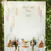 Personalized Photo Backdrop - Bohemian Wedding
