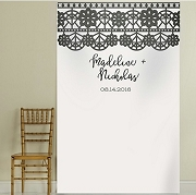 Personalized Romantic Garden Lace Photo Backdrop