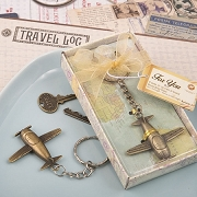Vintage Airplane Key Chain in Antique Brass Finish