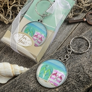 Beach Themed Flip Flop Key Chain